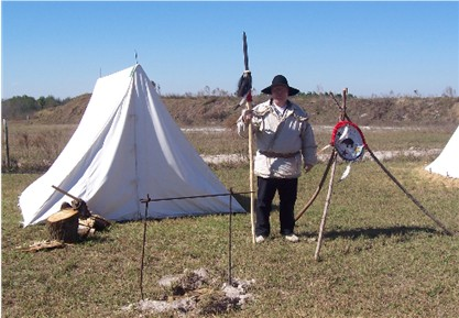 Running Wolf's Rent-a-Camp, historical tent rentals